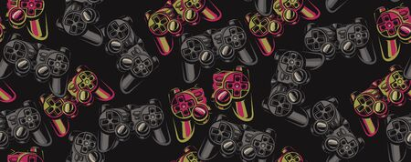 Color seamless pattern on a gaming theme