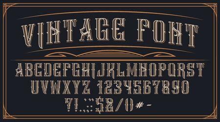 Decorative vintage font on the dark background.