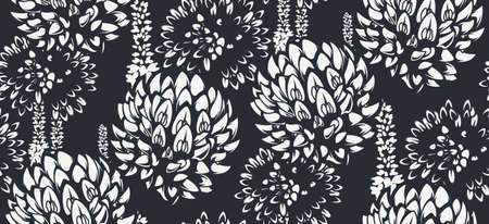 Seamless pattern with wildflowers for light background. Ideal for printing for fabric, wall decoration, and many other uses Illusztráció