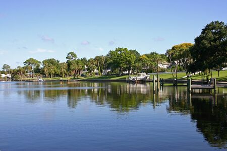 Community on the bay at Tarpon Springs, Florida