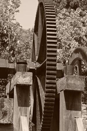bw: Sugar Mill in B&W - Sepia toned Stock Photo