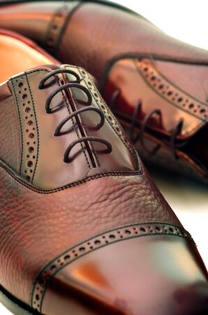 brogues: Mens Formal Shoes Stock Photo