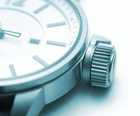 mans watch: Tiempo Foto de archivo