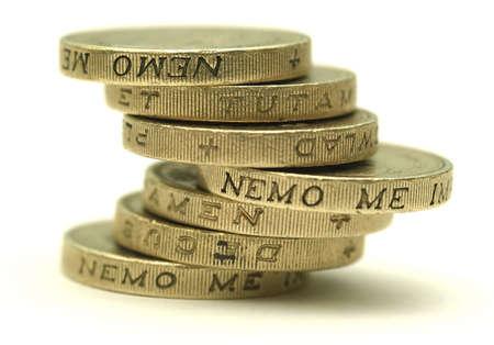 balancing act: UK Sterling - Balancing Act Stock Photo