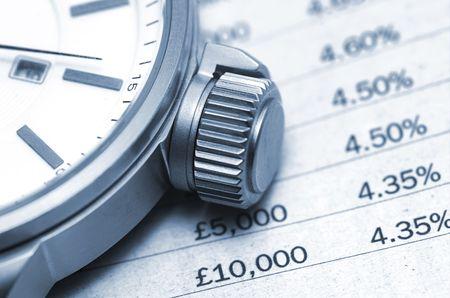 winder: Interest Rates Stock Photo