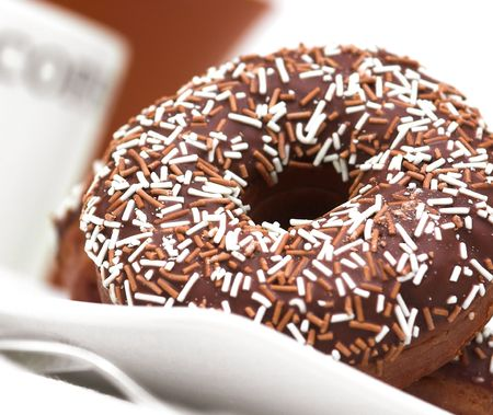 hundreds and thousands: Chocolate Iced Ring Doughnuts