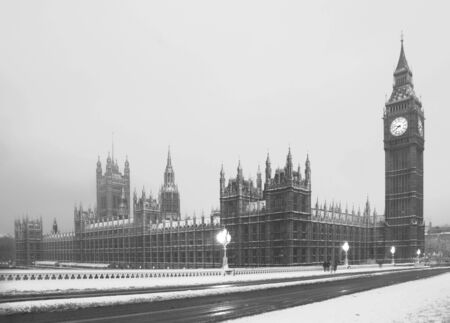 Big Ben in a rare Snow Blizzard photo