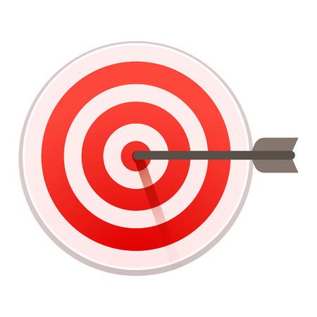 Bulls eye target icon. Cartoon of bulls eye target vector icon for web design isolated on white background Illustration