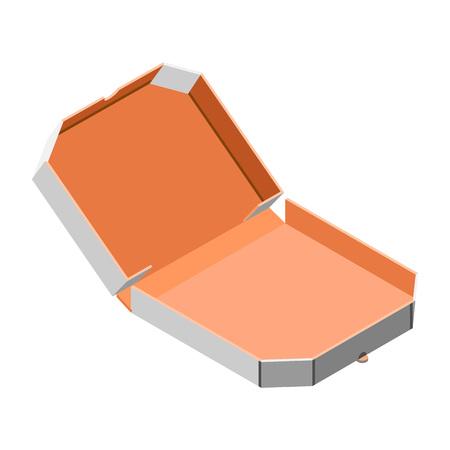 Icona della scatola della pizza aperta. Isometrica dell'icona di vettore della scatola della pizza aperta per il web design isolato su sfondo bianco