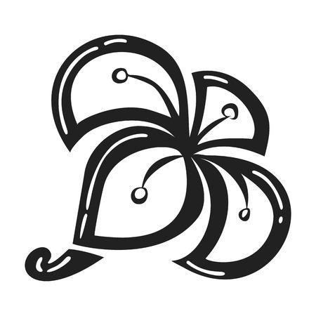 Exotic plumeria icon. Simple illustration of exotic plumeria vector icon for web design isolated on white background