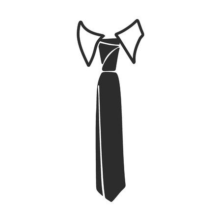 Fashion necktie icon. Simple illustration of fashion necktie vector icon for web design isolated on white background