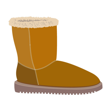 Soft winter boot icon. Flat illustration of soft winter boot vector icon for web design