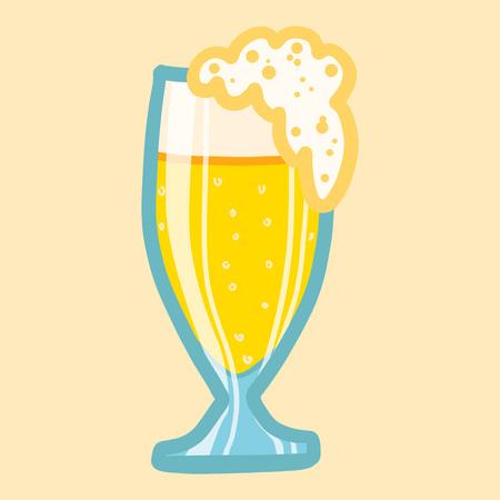 Icône de verre à bière allemande. Illustration dessinée à la main de l'icône de vecteur de verre à bière allemande pour la conception web Vecteurs
