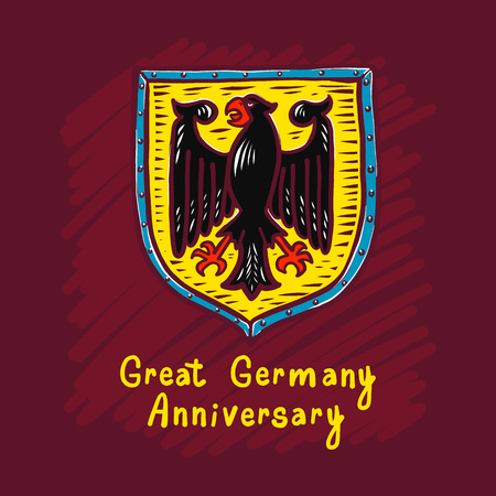 Great germany anniversary concept background. Hand drawn illustration of great germany anniversary vector concept background for web design 일러스트