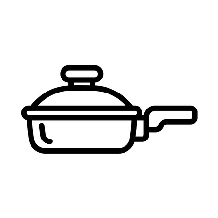 Griddle icon. Outline griddle vector icon for web design isolated on white background