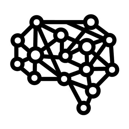 Ikona sztucznego mózgu. Zarys ikonę sztucznego mózgu wektor do projektowania stron internetowych na białym tle Ilustracje wektorowe