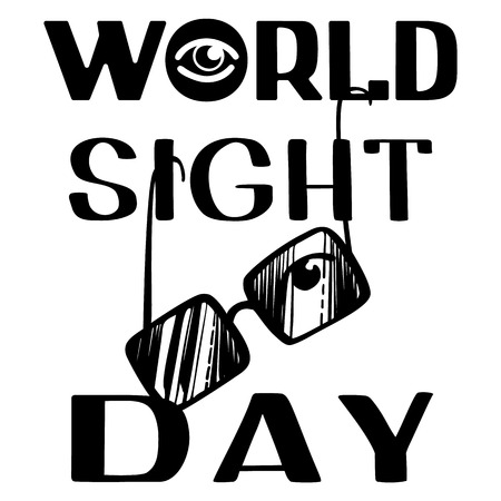 World sight day concept background. Simple illustration of world sight day vector concept background for web design