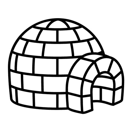 Igloo icon. Outline igloo vector icon for web design isolated on white background