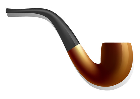 Smoking pipe icon. Realistic illustration of smoking pipe vector icon for web design isolated on white background