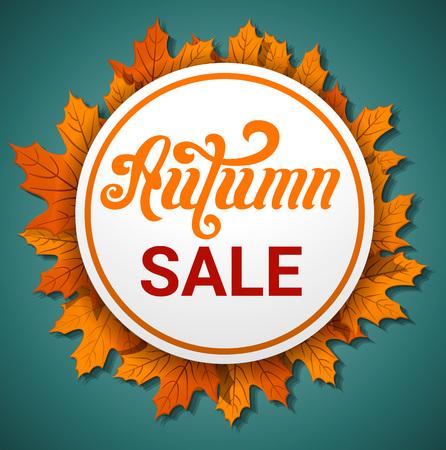 Autumn final sale concept banner. Cartoon illustration of autumn final sale vector concept banner for web design