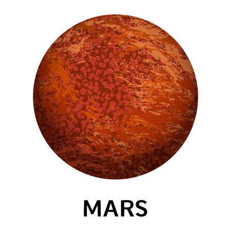 Mars planet icon. Realistic illustration of mars planet vector icon for web design isolated on white background