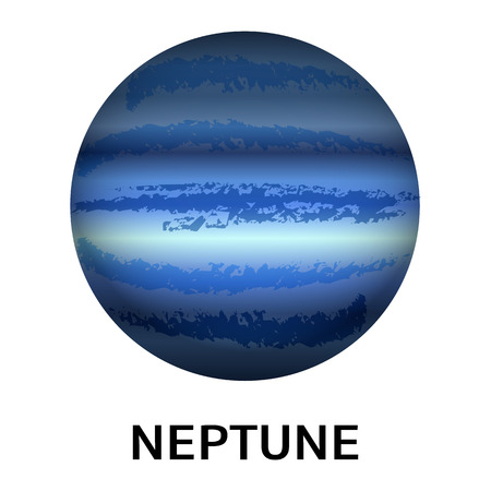 Neptune planet icon. Realistic illustration of neptune planet vector icon for web design isolated on white background
