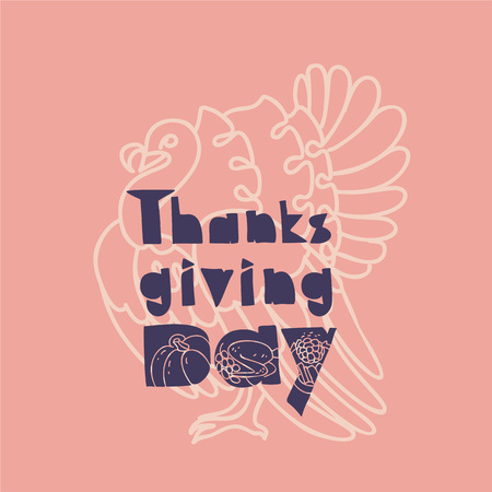Thanksgiving banner concept background. Simple illustration of thanksgiving banner vector concept background for web design