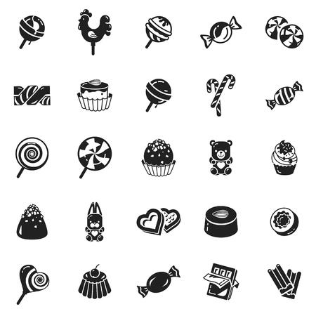 Insieme dell'icona di caramelle dolci. Semplice set di icone vettoriali di caramelle dolci per il web design su sfondo bianco Vettoriali