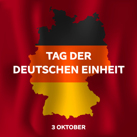 Tag der deutschen einheit concept background. Isometric illustration of tag der deutschen einheit vector concept background for web design