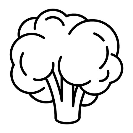 Natural broccoli icon. Outline natural broccoli vector icon for web design isolated on white background Vetores
