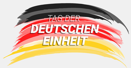 Tag der deutschen einheit concept background. Hand drawn illustration of tag der deutschen einheit vector concept background for web design 일러스트