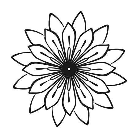 Icône de plante médicinale fleur. Illustration simple de l'icône de plante médicinale fleur pour la conception web