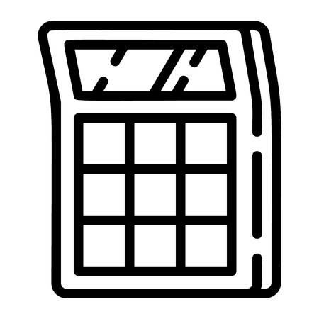 Calculator icon. Outline calculator vector icon for web design isolated on white background
