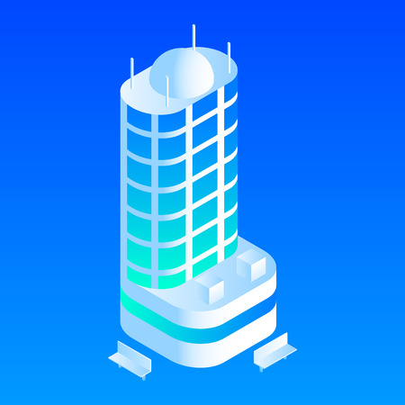 Intelligent building icon. Isometric of intelligent building vector icon for web design isolated