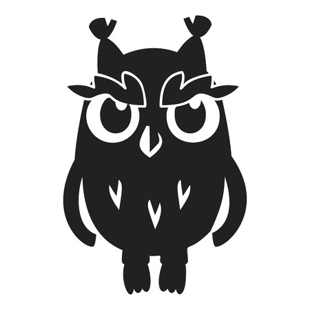 Owl icon. Simple illustration of owl vector icon for web design isolated on white background