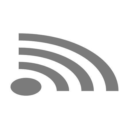 Wi-Fi-Symbol. Isometrische des Wi-Fi-Vektorsymbols für Webdesign isoliert auf weißem Hintergrund