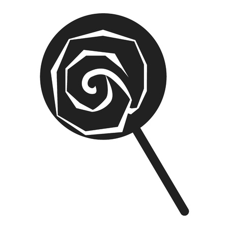 Lollipop icon. Simple illustration of lollipop vector icon for web design isolated on white background