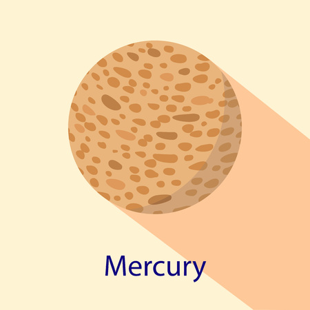 Mercury planet icon. Flat illustration of mercury planet vector icon for web design Vektorové ilustrace