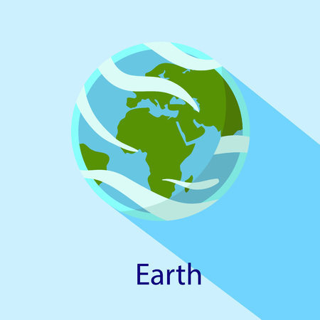 Earth space planet icon. Flat illustration of earth space planet vector icon for web design