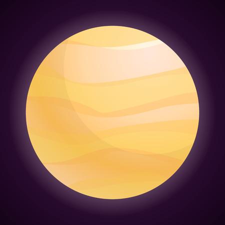 Jupiter icon. Cartoon of jupiter vector icon for web design isolated