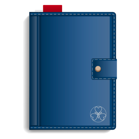 Closed sketchbook icon. Realistic illustration of closed sketchbook vector icon for web design