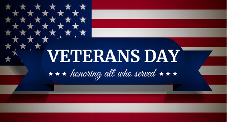 Usa veterans day concept background. Realistic illustration of usa veterans day vector concept background for web design Stock Photo