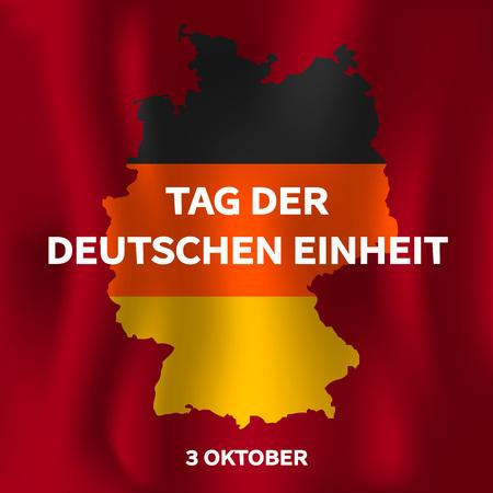 Tag der deutschen einheit concept background. Isometric illustration of tag der deutschen einheit concept background for web design