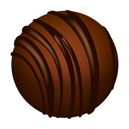 Truffle icon. Isometric of truffle icon for web design isolated on white background Stock Photo