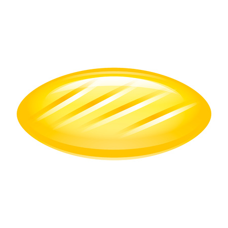 Yellow candy icon. Isometric of yellow candy icon for web design isolated on white background Banco de Imagens