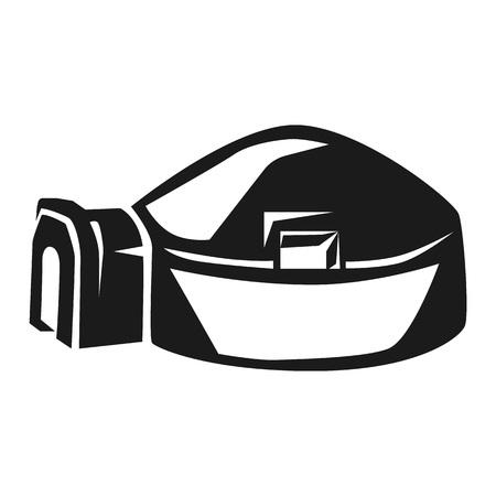 Big igloo icon. Simple illustration of big igloo icon for web design isolated on white background Stock Photo