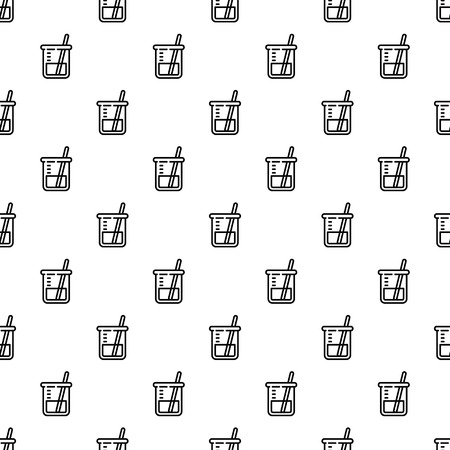 Chemistry glass pattern seamless repeat background for any web design