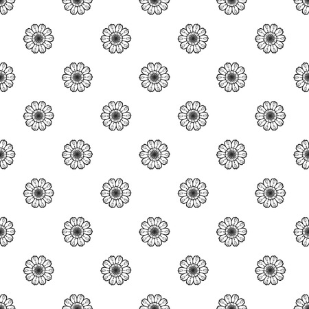 Top view calendula pattern seamless repeat background for any web design Vettoriali