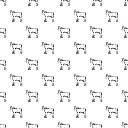 Veal pattern seamless repeat background for any web design Illustration
