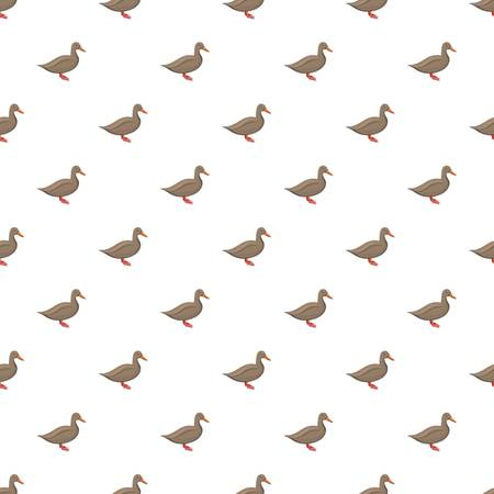 Brown duck pattern seamless repeat background for any web design